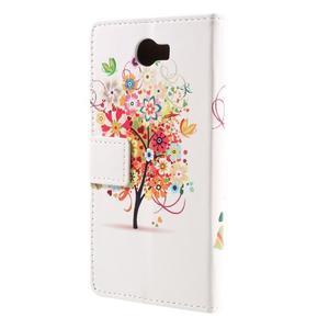 Emotive peněženkové pouzdro na Huawei Y6 II Compact - květinový strom - 3