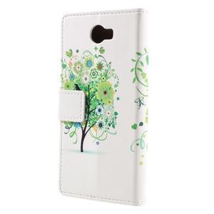 Emotive peněženkové pouzdro na Huawei Y6 II Compact - zelený strom - 3