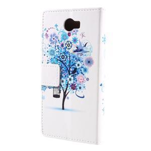 Emotive peněženkové pouzdro na Huawei Y6 II Compact - modrý strom - 3