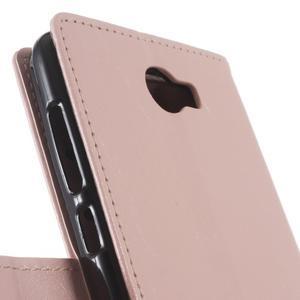 Horses PU kožené pouzdro na Huawei Y6 II Compact - růžové - 3