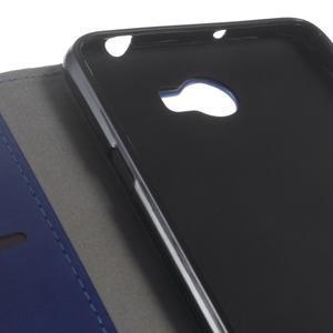Horses PU kožené pouzdro na Huawei Y6 II Compact - modré - 3