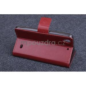 Hnědé PU kožené peněženkové pouzdro na Huawei Ascend G620s - 3