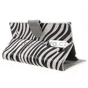Pěněženkové pouzdro na LG G4c H525n - zebra - 3