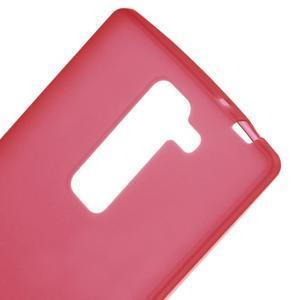 Matný gelový kryt na LG G4c H525n - červený - 3