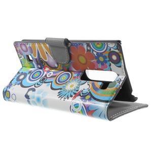 Pěněženkové pouzdro na LG G4c H525n - barevné květiny - 3