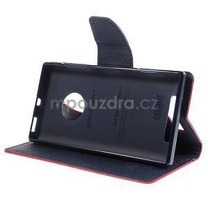 PU kožené peněženkové pouzdro na Nokia Lumia 830 - červené - 3