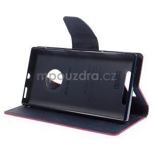 PU kožené peněženkové pouzdro na Nokia Lumia 830 - rose - 3