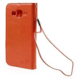 Peněženkové pouzdro s kočičkou Domi na Samsung Galaxy J5 - oranžové - 3