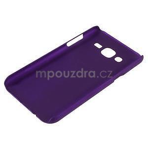 Fialový pogumovaný plastový kryt na Samsung Galaxy J5 - 3
