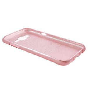 Broušený gelový obal na Samsung Galaxy J5 - růžový - 3