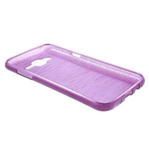 Broušený gelový obal na Samsung Galaxy J5 - fialový - 3