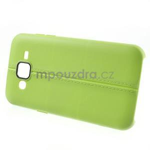 Gelový kryt se švy na Samsung Galaxy J5 - zelený - 3