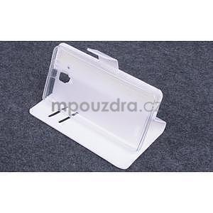 Koženkové pouzdro na mobil Lenovo A536 - bílé - 3