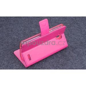 Koženkové pouzdro na mobil Lenovo A536 - rose - 3