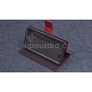 Koženkové pouzdro na mobil Lenovo A536 - hnědé - 3