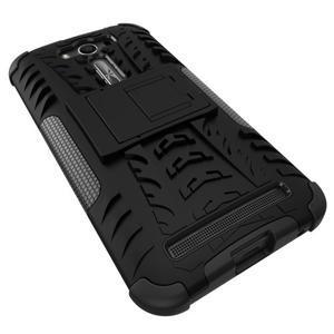 Outdoor odolný kryt se stojánkem na Asus Zenfone 2 Laser ZE500KL - černý - 3