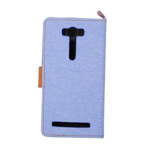Jeans pouzdro na mobil Asus Zenfone 2 Laser - světlemodré - 3