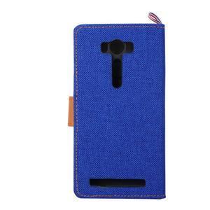 Jeans pouzdro na mobil Asus Zenfone 2 Laser - tmavěmodré - 3