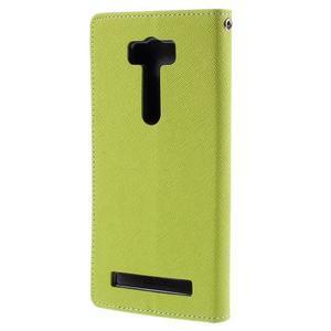 Diary stylové pouzdro na Asus Zenfone 2 Laser - zelené - 3