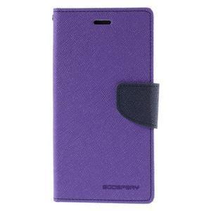 Diary stylové pouzdro na Asus Zenfone 2 Laser - fialové - 3