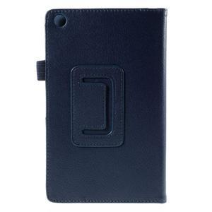 Koženkové pouzdro na tablet Asus ZenPad 7.0 Z370CG - tmavě modré - 3