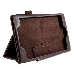 Koženkové pouzdro na tablet Asus ZenPad 7.0 Z370CG - coffee - 3