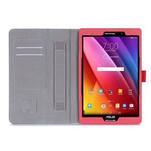 Polohovatelné koženkové pouzdro na tablet Asus ZenPad S 8.0 - červené - 3