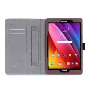 Polohovatelné koženkové pouzdro na tablet Asus ZenPad S 8.0 - hnědé - 3