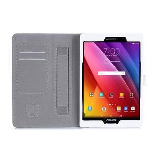 Polohovatelné koženkové pouzdro na tablet Asus ZenPad S 8.0 - bílé - 3