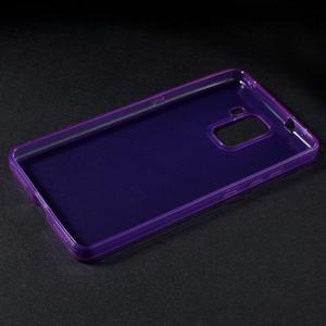 Transparentní gelový obal na telefon Honor 7 - fialový - 3