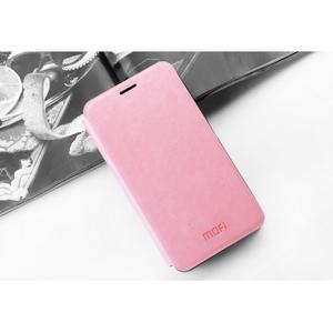 Koženkové pouzdro na mobil Honor 7 - růžové - 3
