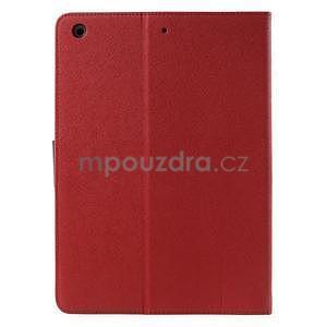 Diary peněženkové pouzdro na iPad Air - červené - 3