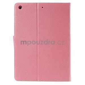 Diary peněženkové pouzdro na iPad Air - růžové - 3