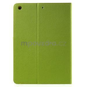 Diary peněženkové pouzdro na iPad Air - zelené - 3