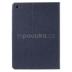 Diary peněženkové pouzdro na iPad Air - tmavěmodré - 3