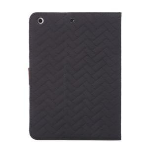 Texture luxusní pouzdro na iPad Mini 3, iPad Mini 2 a iPad Mini - černé - 3