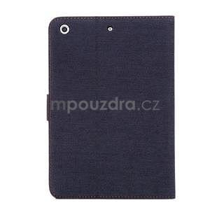 Jeans luxusní pouzdro na iPad Mini 3, iPad Mini 2 a iPad Mini - černomodré - 3