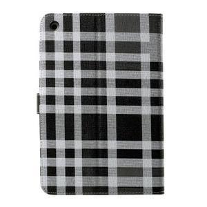 Kostkované pouzdro na Apple iPad Mini 3, iPad Mini 2 a iPad Mini - černé - 3