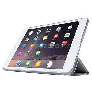 Lines polohovatelné pouzdro na iPad Mini 3 / iPad Mini 2 / iPad mini - šedé - 3