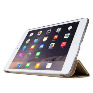 Lines polohovatelné pouzdro na iPad Mini 3 / iPad Mini 2 / iPad mini - zlaté - 3