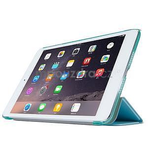 Lines polohovatelné pouzdro na iPad Mini 3 / iPad Mini 2 / iPad mini - cyan - 3