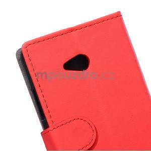 Ochranné peněženkové pouzdro Microsoft Lumia 640 - červené - 3