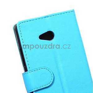 Ochranné peněženkové pouzdro Microsoft Lumia 640 - modré - 3