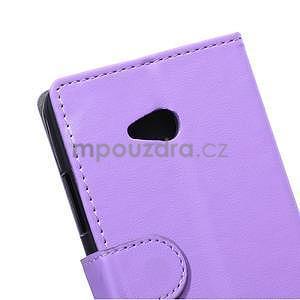 Ochranné peněženkové pouzdro Microsoft Lumia 640 - fialové - 3