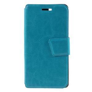 Peněženkové PU kožené pouzdro na mobil Doogee X5 - modré - 3