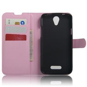 Peněženkové pouzdro na mobil Doogee X6 - růžové - 3