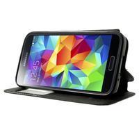 Pěněženkové pouzdro s okýnkem pro Samsung Galaxy S5 mini -  černé - 3/7