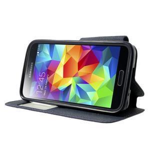 Pěněženkové pouzdro s okýnkem pro Samsung Galaxy S5 mini -  fialové - 3