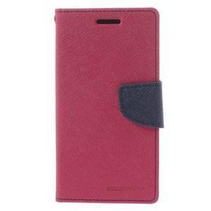 Mr. Fancy koženkové pouzdro na Samsung Galaxy A5 - rose - 3