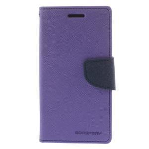 Mr. Fancy koženkové pouzdro na Samsung Galaxy A5 - fialové - 3